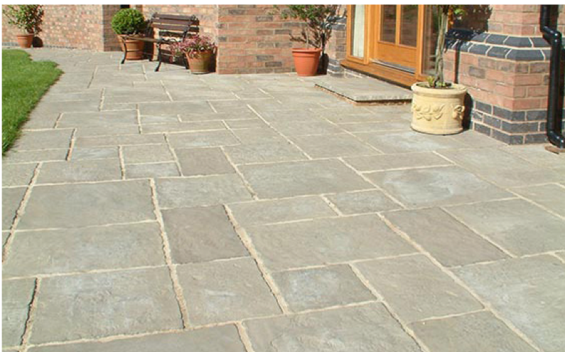 concrete paving bath bath patio slab centre