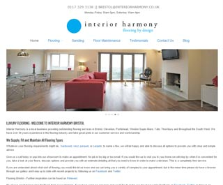 Interior Harmony, Bath website design client