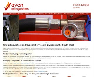 Swindon Fire Extinguishers, website design