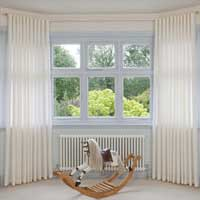 Bay window curtain in Bath