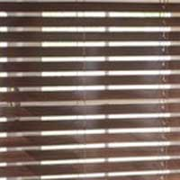 Slatted brown blinds from Darling Interiors Bath