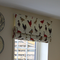 Birds and Curtains Bath Jean Darling