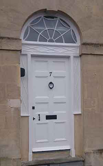 Painters Bath, door painting by Acredale