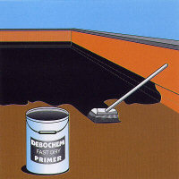 Apply the primer, flat roofing Bath