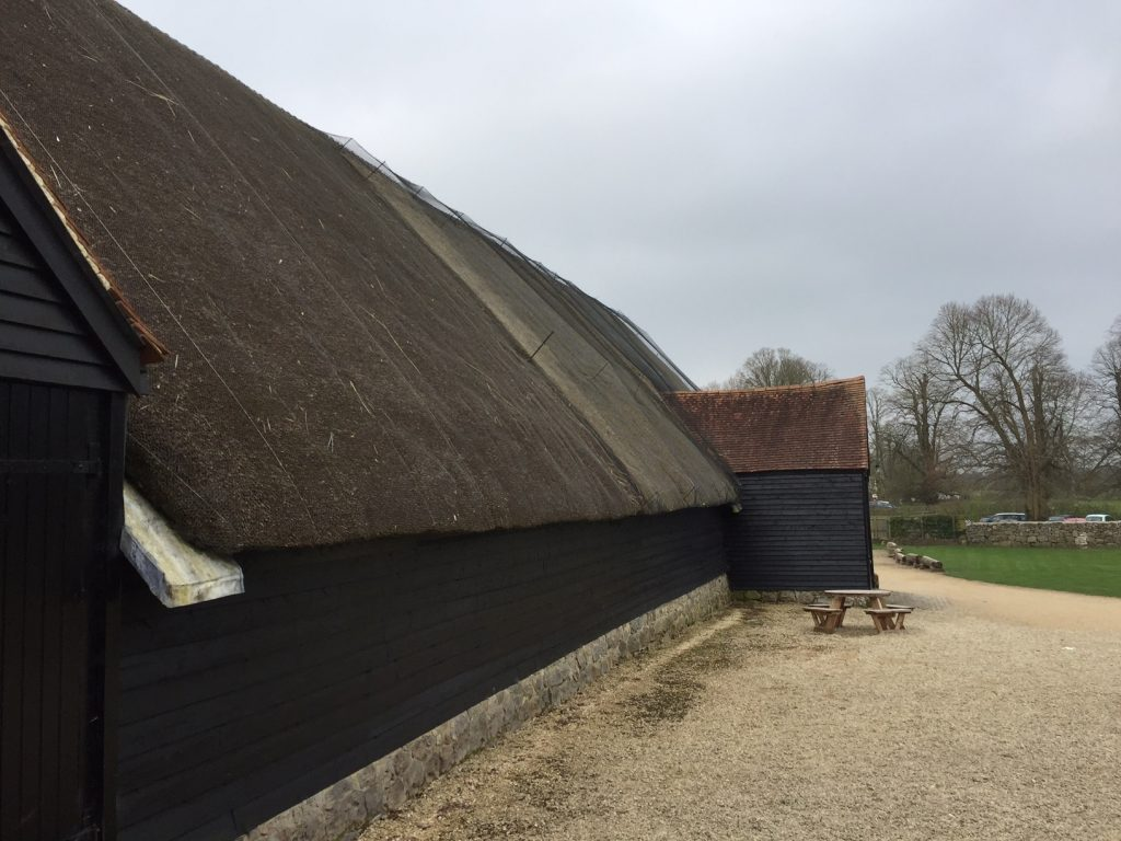 Example of clay hand made plain tiles for the Great Barn, Avebury