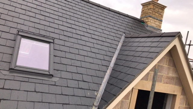 Roof slope with Velux window